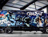 Nie udało się sprzedać ciężarówki Banksy'ego na aukcji