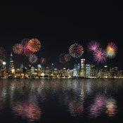 Niespodziewany pokaz fajerwerków